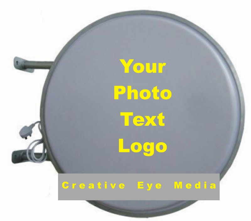 Blank Circular Light Box - 70cm Dia Outdoor - Double Side